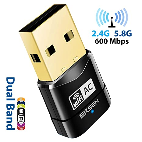 AC600 2.4G 5G 5GHz Wireless Dual USB WIFI Dongle Network Adapter Band 802.11AC