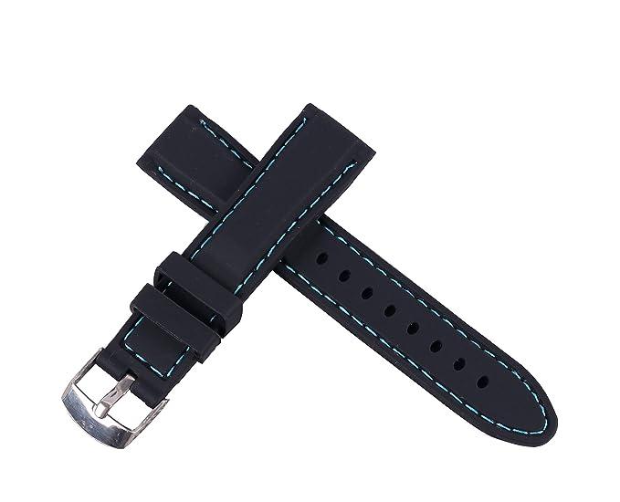 banda de reloj de buceo de goma suave impermeable del deporte de silicona de 24 mm