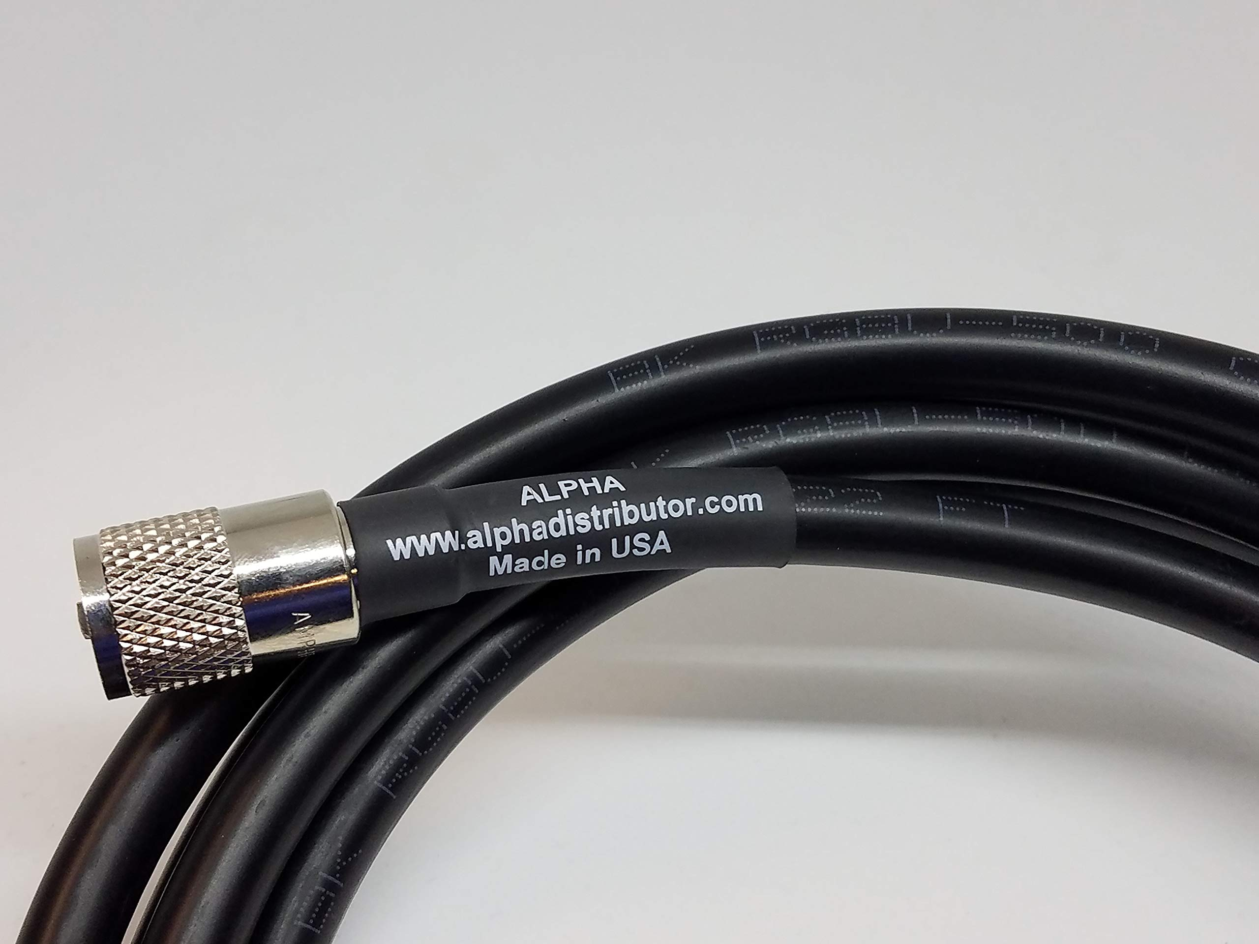 3ft RG8u Coax Cb Ham Radio Cable with AMPHENOL PL259s attached by Alpha