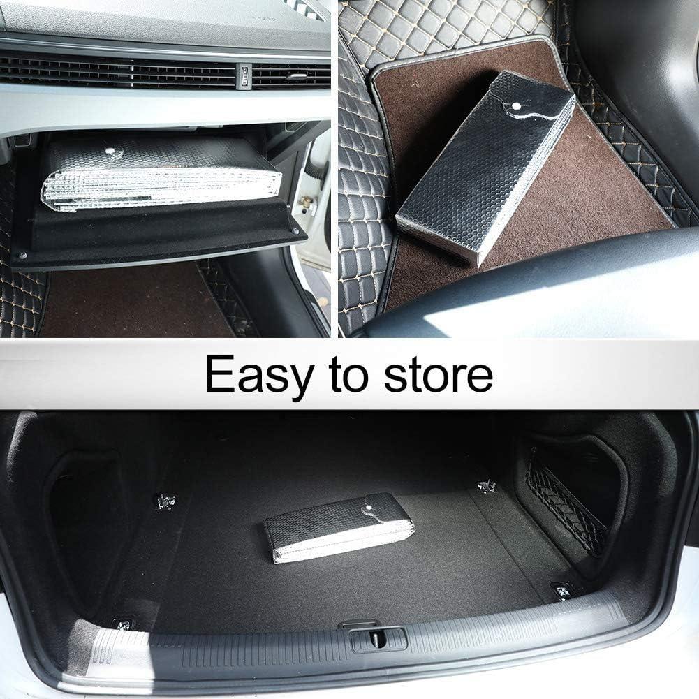 per Auto di Piccole Dimensioni Parasole per Parabrezza Anteriore 128 x 67 cm Flessibile PowerTiger Protezione UV
