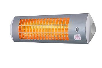 Firefly Chauffage Exterieur Mural De Terrasse Radiant Infrarouge A Quartz 3 Reglages Chaleur 1800 Watt