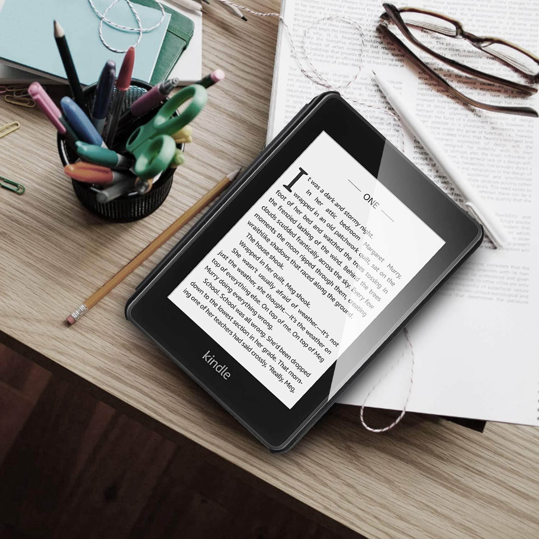 Gris QITAYO Funda para Kindle Paperwhite 2018 Generaci/ón 10 Carcasa Nueva de Cuero Sint/ético Antigolpes /& Ligera /& Impermeable con Cierre de Im/án