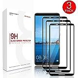Huawei Mate 10 PRO Vetro Temperato, [3 pezzi] Basstop 3D Full Coverage Screen Protector in vetro temperato con [Durezza 9H] [Installazione senza bolle] [Scratch Resist] per Huawei Mate 10 PRO