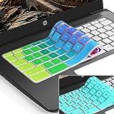 [2pack] for hp Chromebook 11 Keyboard Cover Skin,hp Chromebook x360 11.6 inch,HP Chromebook 11 G2,G3,G4,G5(G6 EE) 11.6 Inch Chromebook Protective Skin(NOT Fit HP Chromebook G5 EE)(Rainbow+Mint)