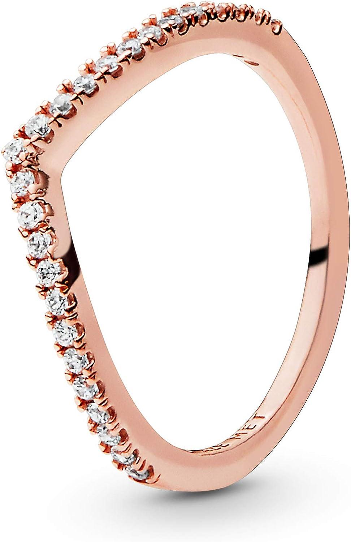 Pandora - Anillo apilable para mujer, color rosa