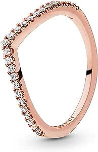 Pandora - Anillo pandora plata rose circon