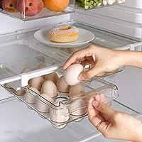 Koelkastlade organizer, koelkast organizer bakken met handvat, eierhouder voor koelkast, treks koelkast opbergladen voor…