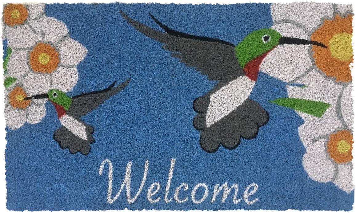 Briarwood Lane Hummingbirds Spring Coir Doormat Welcome Outdoor 18 x 30