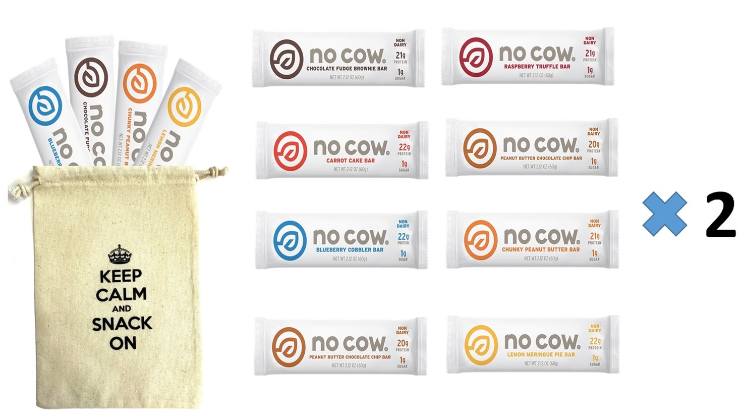 No Cow Variety Pack - 7 Flavors (24 Pack) by No Cow