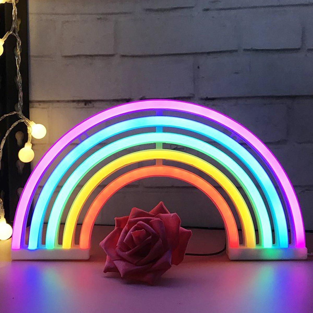 Murale En Aizesi Lights Fête Arc Ciel Noël Led Décoration Rainbow UVSMqzpGL