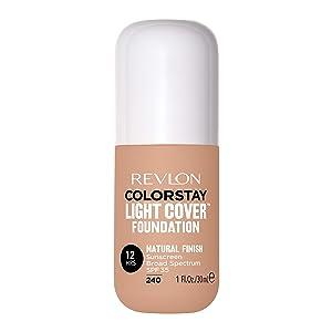 Revlon ColorStay Light Cover Liquid Foundation, Hydrating Longwear Weightless Makeup with SPF 35, Light-Medium Coverage for Blemish, Dark Spots & Uneven Skin Texture, 240 Medium Beige, 1 fl. oz.