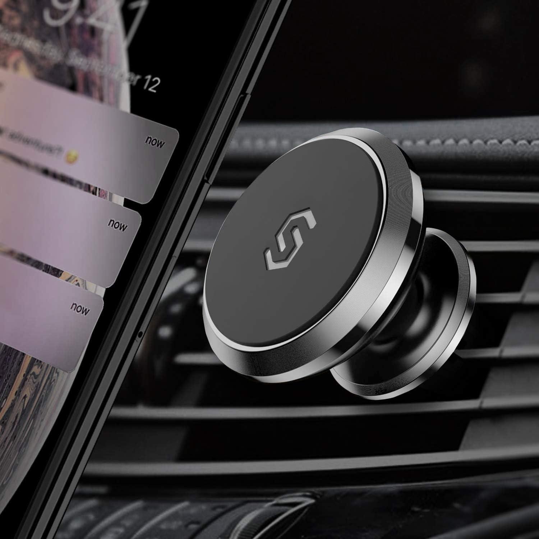 Syncwire Support Téléphone Voiture Magnétique -【Garantie à vie】Support Portable Voiture Rotation 360° pour iPhone 11 Pro Max, Samsung S10, Huawei P30 Pro, GPS, etc. - Porte Smartphone Voiture Grille