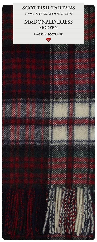 MacDonald Dress Modern Tartan Plaid 100/% Lambswool Scarf /& Tie Gift Set