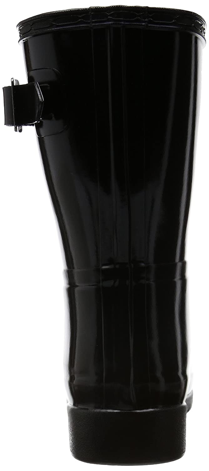 Hunters Boots Women's Original Refined Short Gloss Boots B017CKFE9W 9 B(M) US|Black