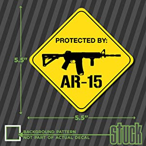 Protected By AR-15 Security Decal - 5.5