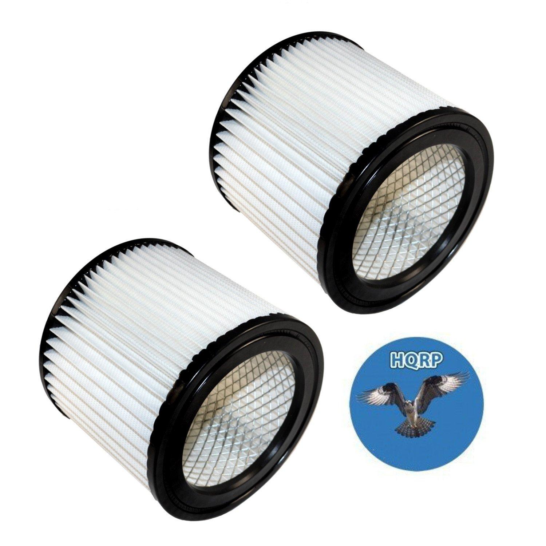 HQRP 2-pack Cartridge Filter for Shop-vac QPMH450 QPMH500 QMH45A QSH30 QSH35 QPSH300 QPSH400 952-02 95202 HangUp Series Wet/Dry Vacuum + HQRP Coaster