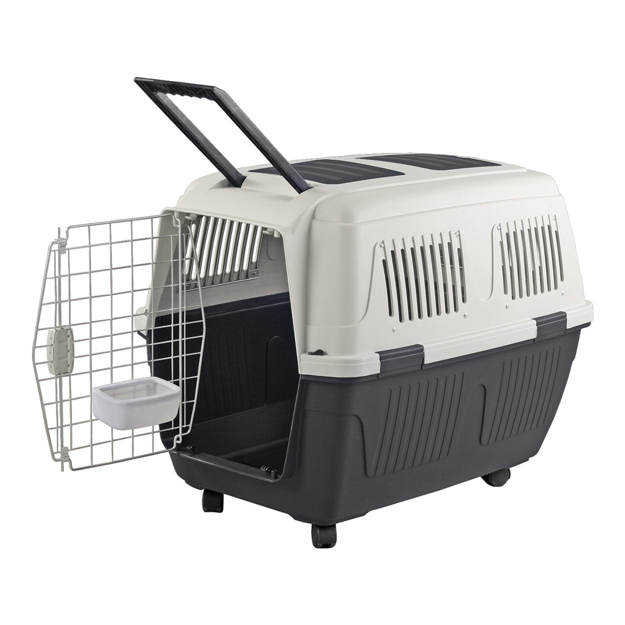 Animal Treasures PS7912 Deluxe Dog Kennel, 3X-Large/40'', Gray/White