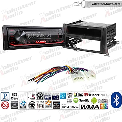 Amazon com: Volunteer Audio JVC KD-X260BT Single Din Radio