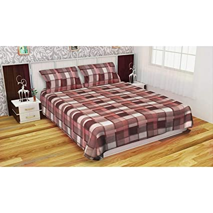 Fabture One Woollen Bedsheet and Two Pillow Covers