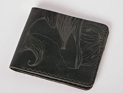 Cartera de cuero hecha a mano accesorio de moda regalo original para hombre