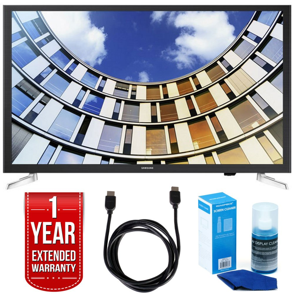 Samsung UN32M5300AFXZA 32'' LED 1080p Smart HD TV Bundle with TV, Universal Screen Cleaner, 6ft High Speed HDMI Cable, and 1 Year Extended Warranty