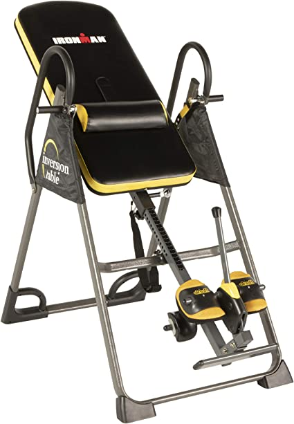 IRONMAN Gravity Highest Weight Capacity Inversion Table with Optional No Pinch AIRSOFT Ankle Holder
