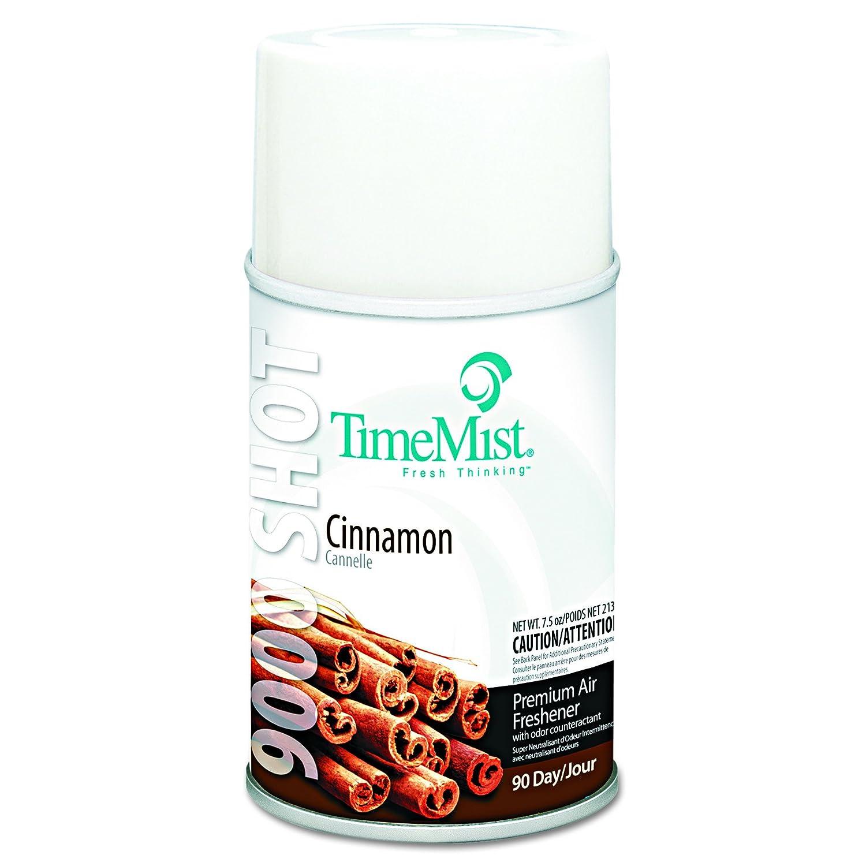 TimeMist 1042639 9000 Shot Metered Air Fresheners, Cinnamon, 7.5 oz Aerosol (Case of 4)