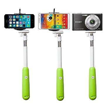 2014 New!!!SAVFY® Green *Build-in Bluetooth Shutter* Universal Selfie  Self-portrait Extendable