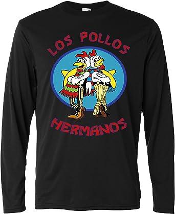 LaMAGLIERIA Camiseta de Manga Larga Hombre - Los Pollos Hermanos - Long Sleeve 100% Algondon: Amazon.es: Ropa y accesorios