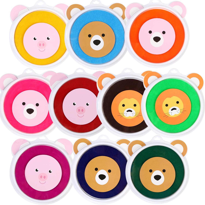 Lsushine Craft Large Ink Pad Stamps Partner DIY Color, 8 Colors Rainbow Finger Ink pad for Kids (Pack of 8) 4336989660