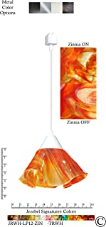 product image for Jezebel Signature Lily Track Lighting Pendant Small. Hardware: White. Glass: Zinnia