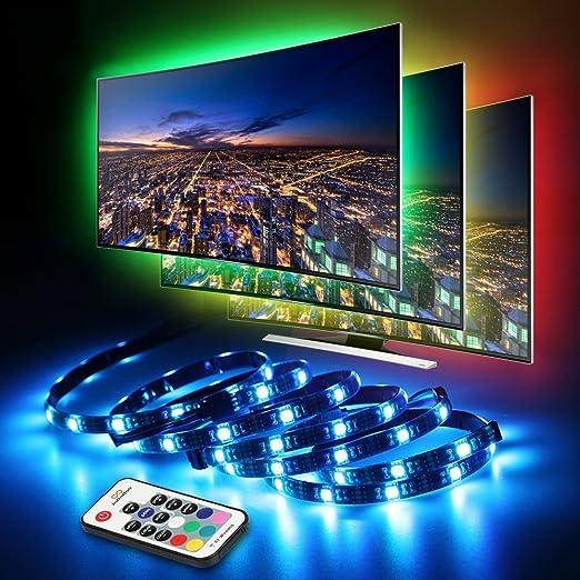LED TV Fondo, infinitoo tira LED 4 * 50 cm Set, USB LED Strip 5050 ...