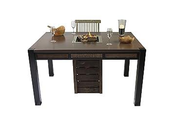 "Chimenea mesa ""Oblong, Fuegos mesa, Gas Chimenea, mesa de calefacción"