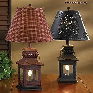 Park Designs Black Iron Lantern Lamp