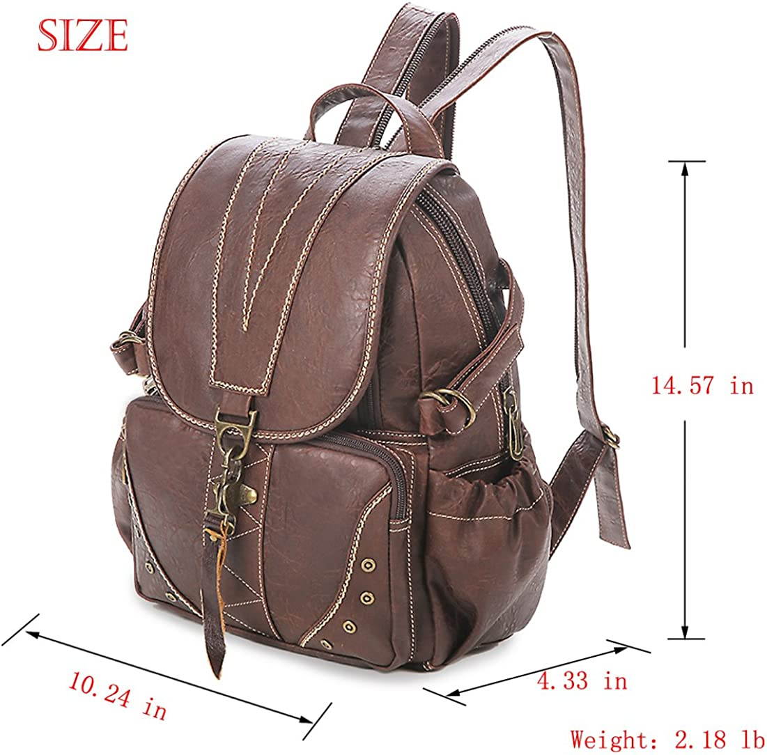 Yaoko Women Fashion Retro College School Bag Outdoor Travel Hiking Dayback Backpack