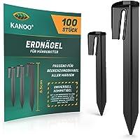 kanoo® Grondpennen voor robotmaaier begrenzingskabel – 100 x grondhaken voor veilig vastzetten van grensdraad in de tuin…