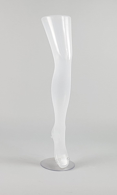 Espositore calze - Manichino gamba donna colore traslucido con base di sostegno in plastica MiArredo