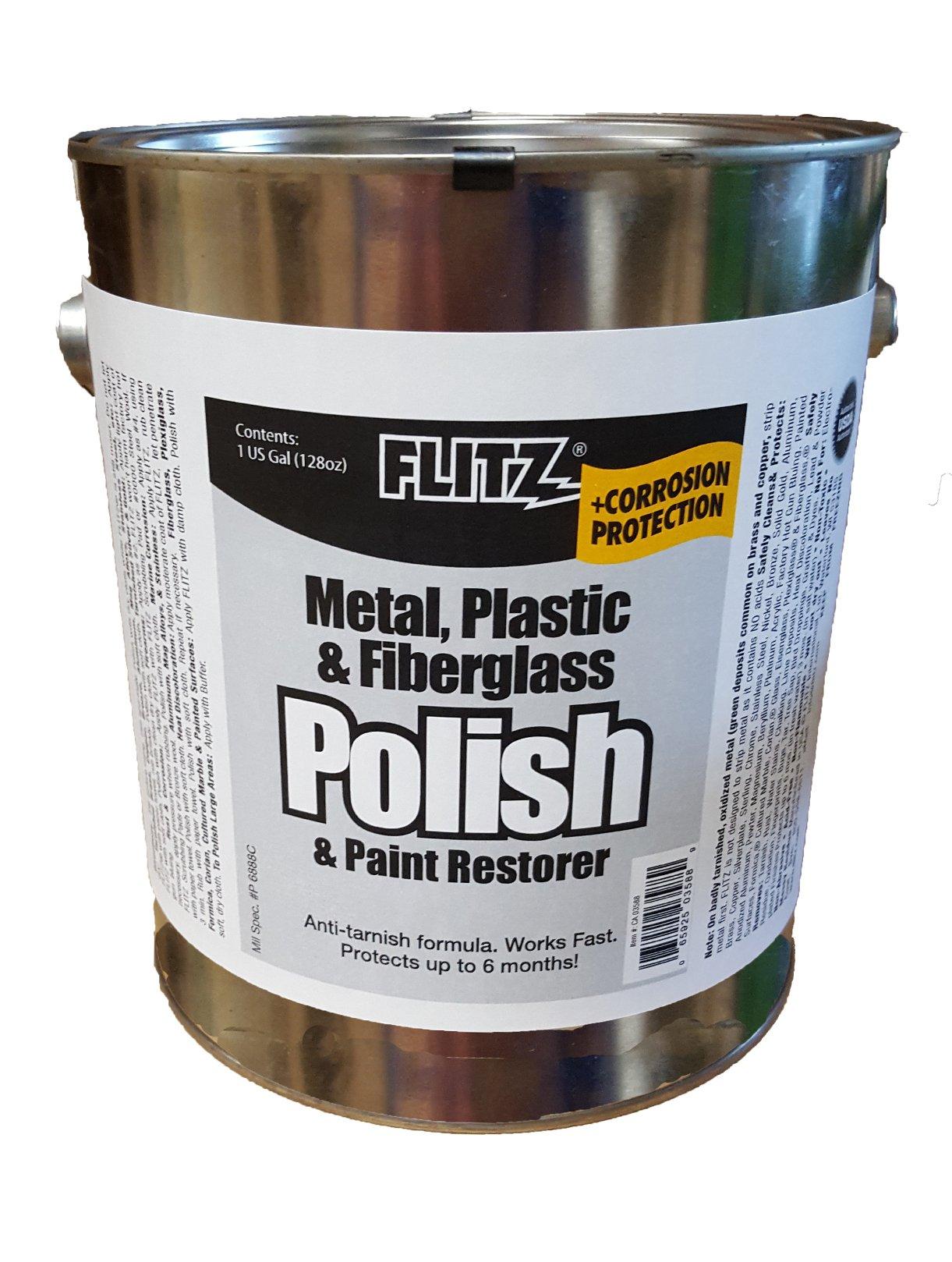 Flitz CA 03588 Blue Metal, Plastic and Fiberglass Polish Paste, 1 Gallon Can