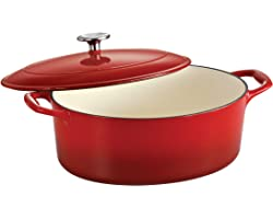 Tramontina Enameled Cast Iron Covered Dutch Oven 5.5-Quart Gradated Red, 80131/051DS