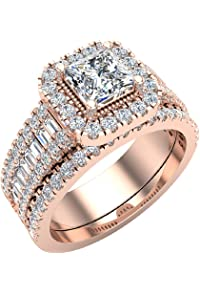 Solitaire Anniversary Ring I1 H 1.10ct Genuine Diamond Prong Set 14k Rose Gold Jewelry & Watches