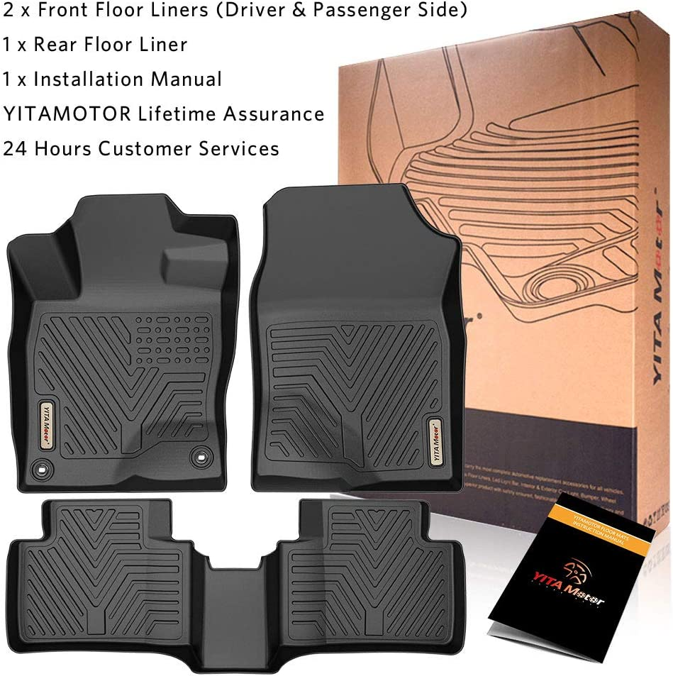 YITAMOTOR Floor Mats Compatible with Honda Civic 1st /& 2nd Row All Weather Protection Custom Fit Floor Liners for 2016-2020 Honda Civic Sedan//Hatchback or Type R