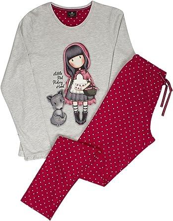 Pijama Mujer Gorjuss Invierno en Caja Libro - Little Red Riding Hood, Large