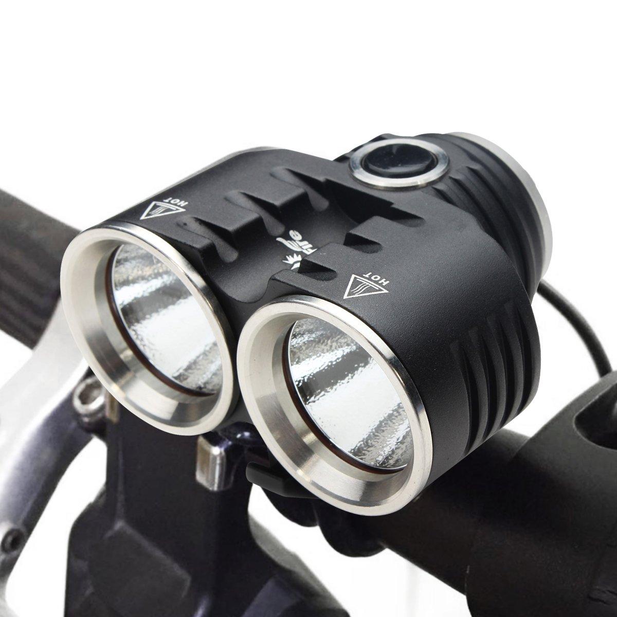 Bike Scheinwerfer ThorFire BL02Bike CREE XM-L2LED Rechargeable Fahrrad Licht Scheinwerfer 3Modi wird geliefert mit kostenloser und Rücklicht 8800mAh Akku Pack für Radfahren Joggen Camping Wandern