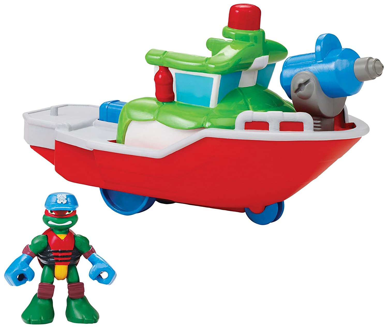 Teenage Mutant Ninja Turtles B00WC0EHRI Pre-Cool Half Shell Heroes and Fire Teenage Boat with Captain Raphael Bathtub Vehicles and Figure B00WC0EHRI, あなろ(インテリア雑貨):26509f43 --- krianta.ru
