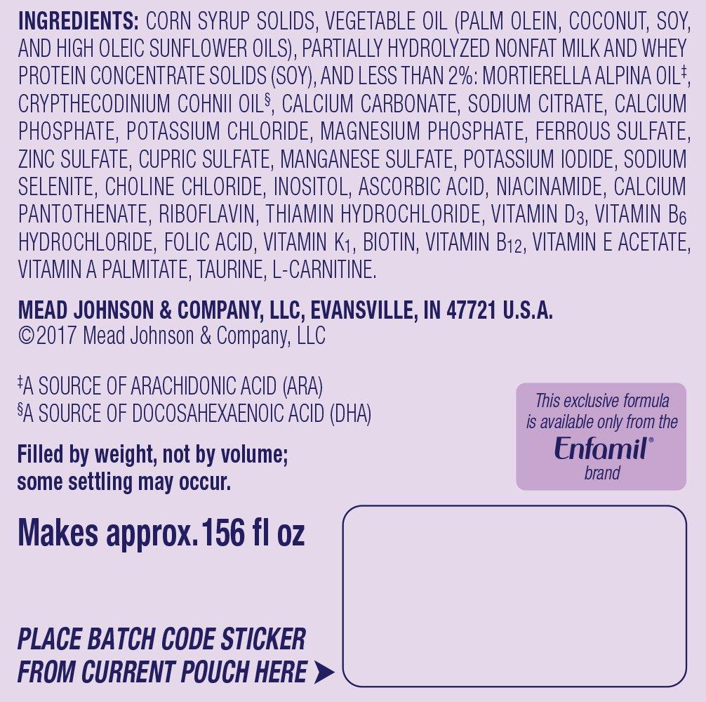 Enfamil PREMIUM Non-GMO Gentlease Infant Formula, Powder, 21.5 Ounce Reusable Tub, Pack of 4 by Enfamil (Image #3)