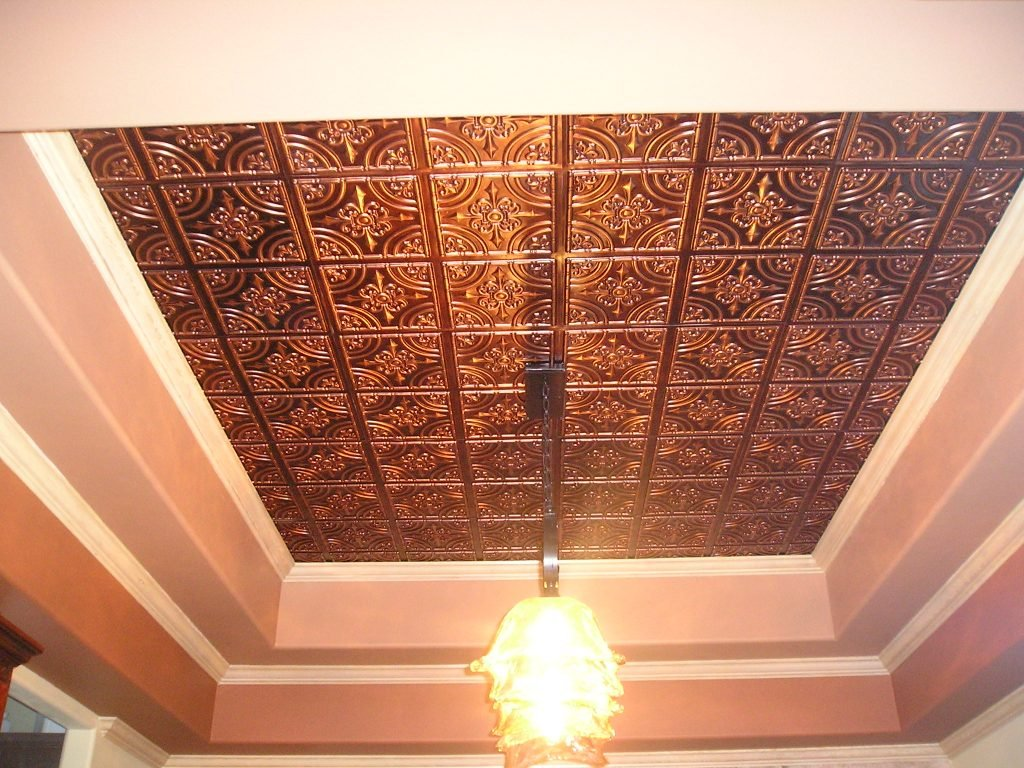 Gorgeous Antique Look PVC Tiles Great as a Backdrop. ~ 40 sq.ft Faux Tin Glue Up Ceiling Tile #205 Antique Copper Pack of 10 2X2 Tiles Easy to Install Decorative Ceiling Tiles