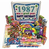 30th Birthday Gift Box of Retro Nostalgic Candy from Childhood for Men and Women- 30 Years Old - Born 1987