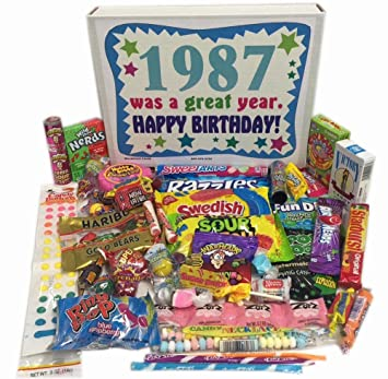 30th Birthday Gift Box of Retro Nostalgic Candy from Childhood for Men and  Women- 30