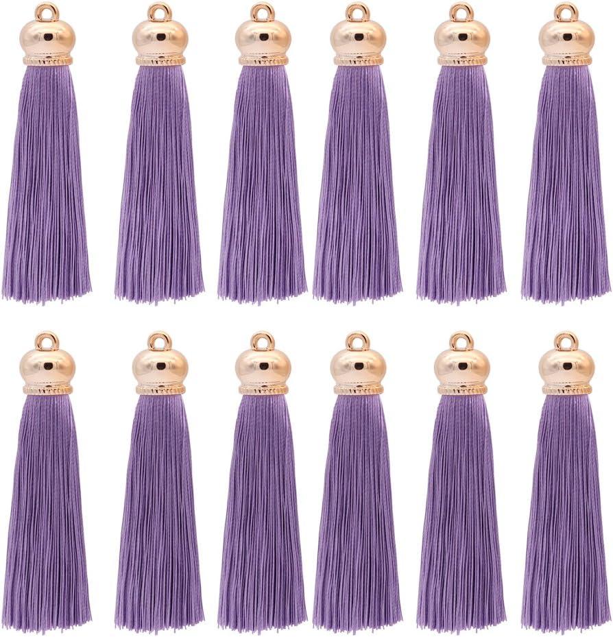 10PCs Tassel Pendants Polyester Trim Mixed Craft Applique Jewelry Making Purple