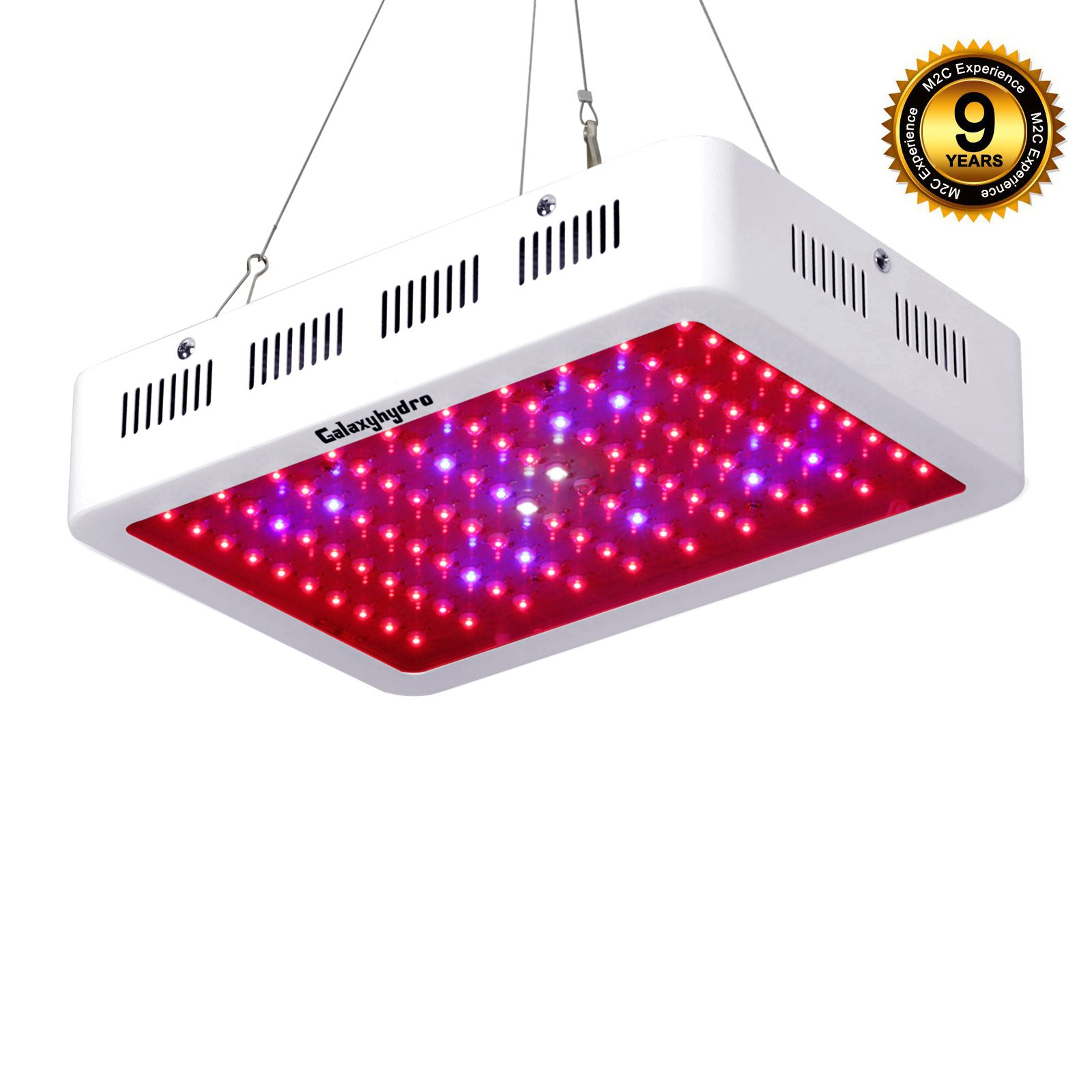 Best rated in plant growing light fixtures helpful customer roleadro led grow light galaxyhydro series 300w indoor plant grow lights full spectrum with uvir arubaitofo Gallery